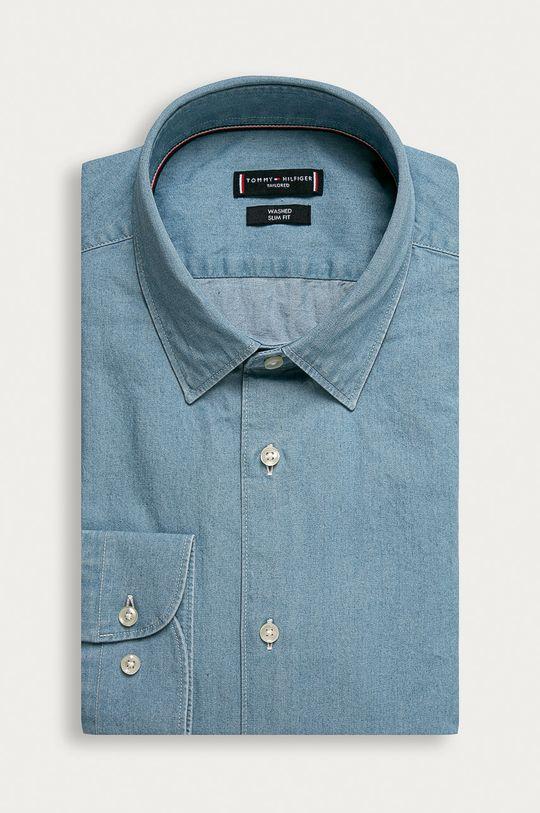 niebieski Tommy Hilfiger Tailored - Koszula bawełniana Męski