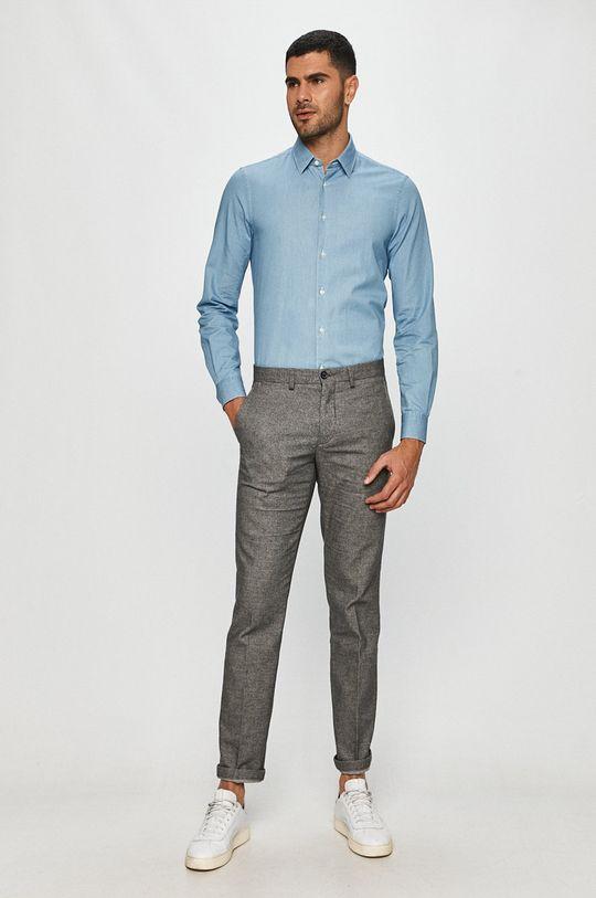 niebieski Tommy Hilfiger Tailored - Koszula bawełniana