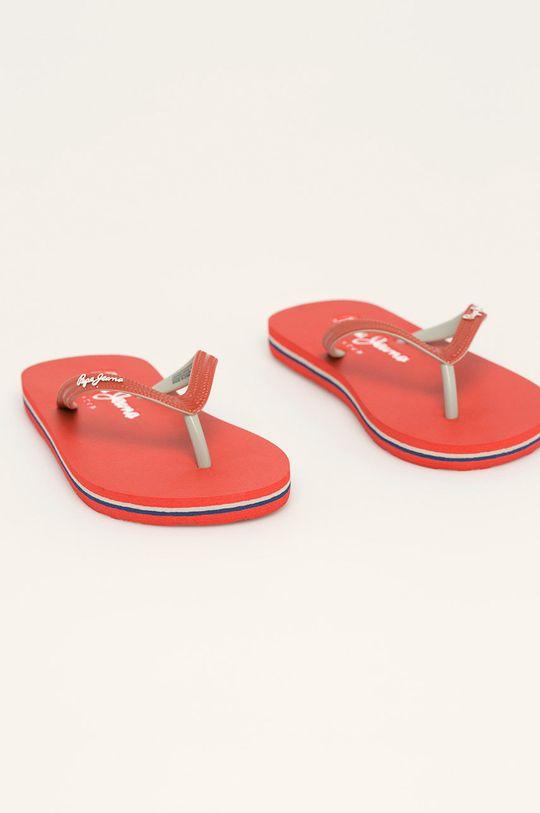Pepe Jeans - Slapi Beach Basic Boys rosu
