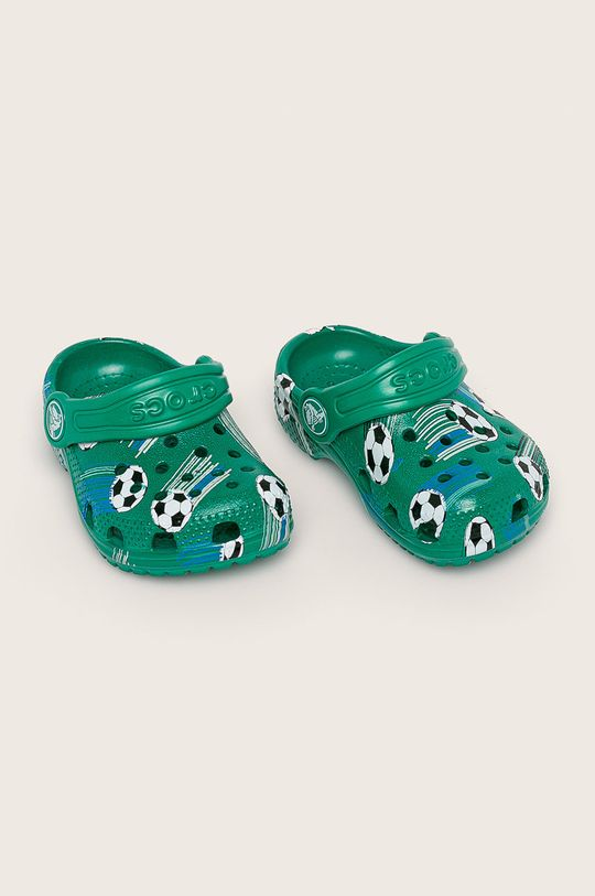 Crocs - Slapi copii verde inchis