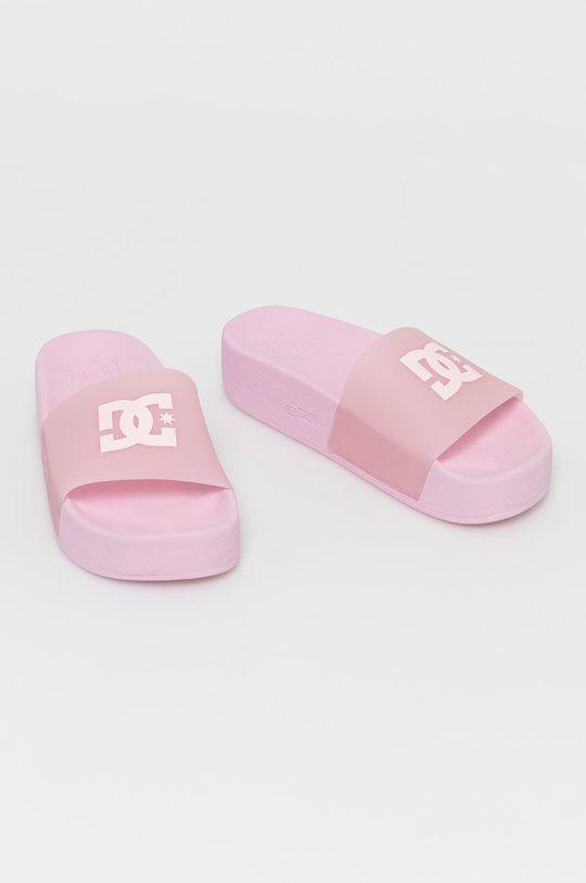 Dc - Klapki pastelowy różowy