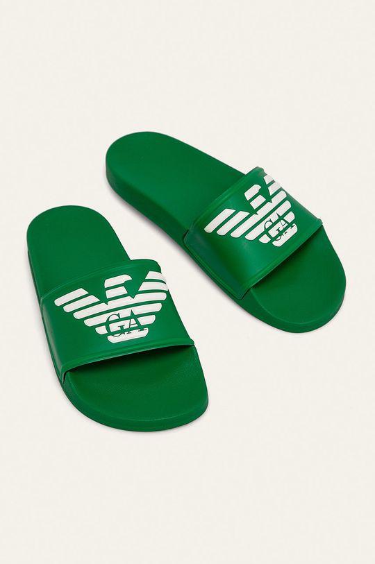 Emporio Armani - Šľapky zelená