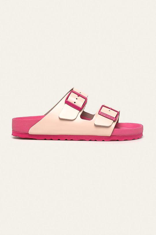 růžová Birkenstock - Kožené pantofle Arizona EXQ Dámský