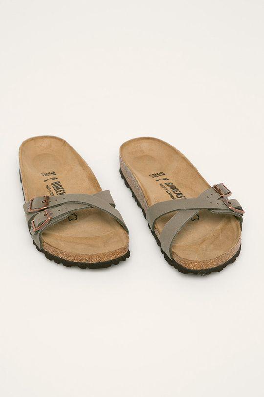 Birkenstock - Papuci Almere maroniu murdar