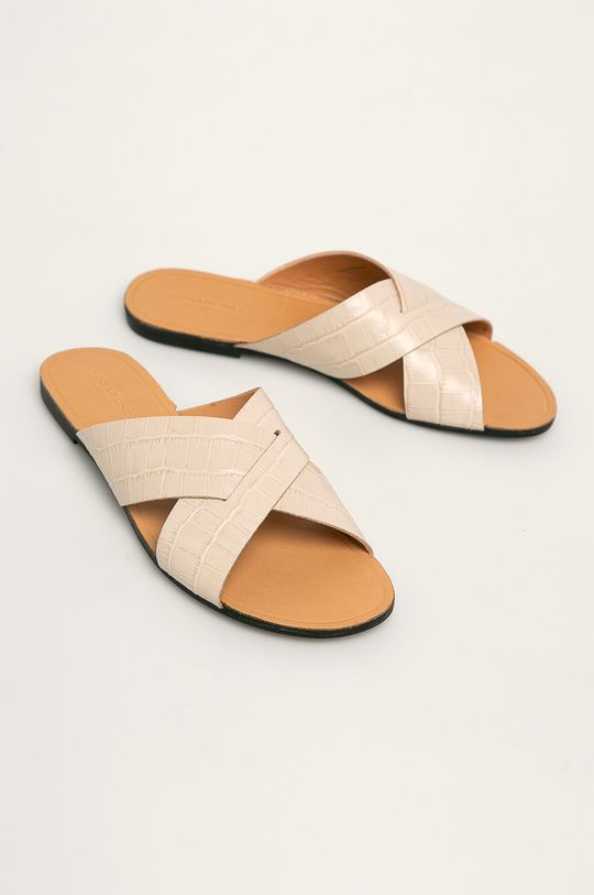 Vagabond - Kožené pantofle Tia béžová