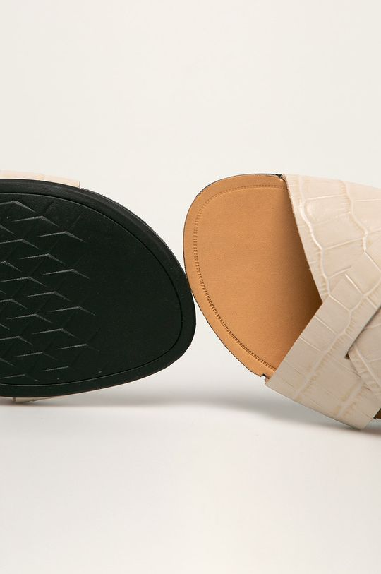 béžová Vagabond - Kožené pantofle Tia