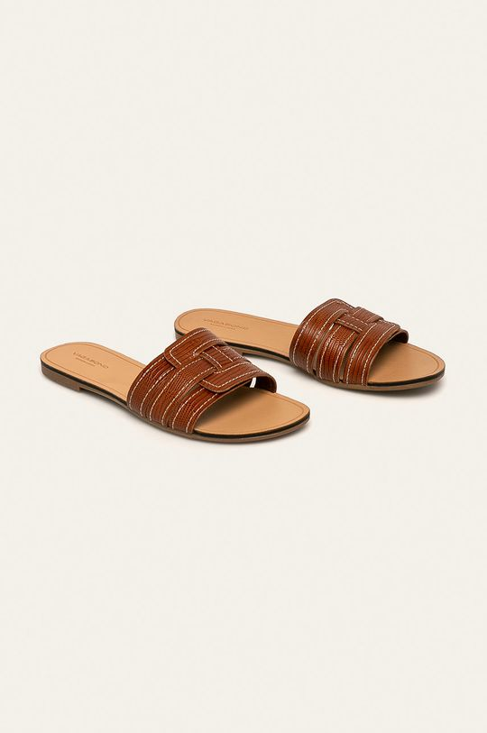 Vagabond - Kožené pantofle Tia hnědá