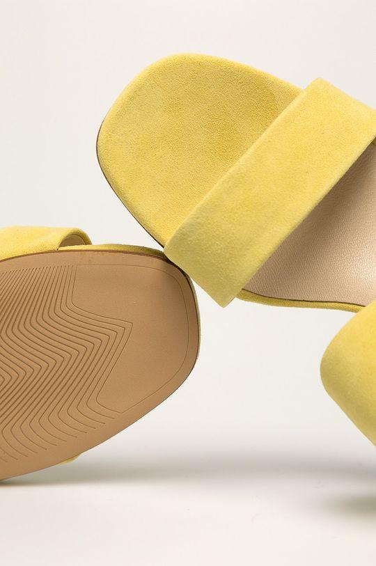 Vagabond - Slapi de piele Elena Gamba: Piele intoarsa Interiorul: Piele naturala Talpa: Material sintetic