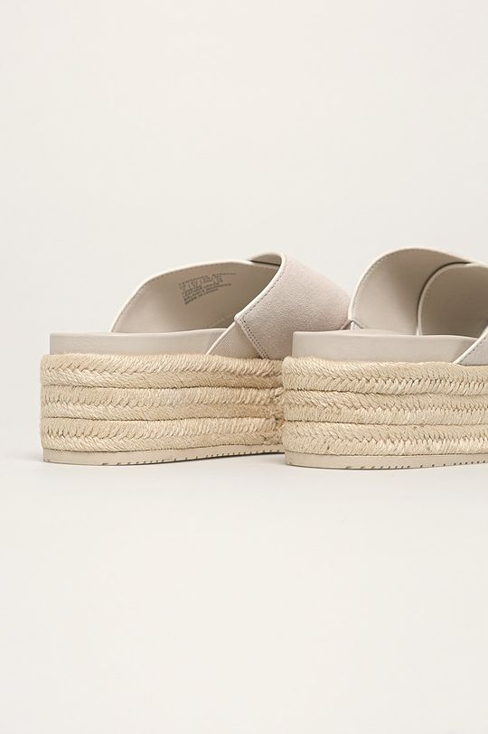 Calvin Klein Jeans - Kožené šľapky  Zvršok: Prírodná koža Vnútro: Syntetická látka Podrážka: Syntetická látka