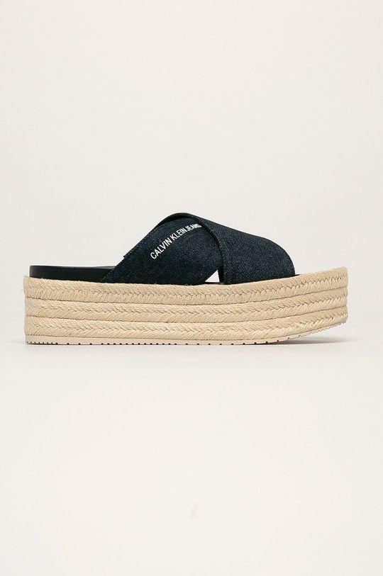 tmavomodrá Calvin Klein Jeans - Šľapky Dámsky