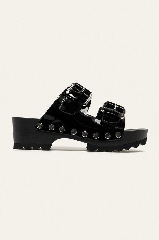 čierna Calvin Klein Jeans - Kožené šľapky Dámsky