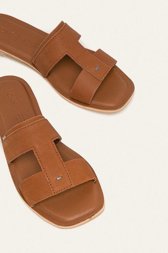 Toms - Kožené pantofle Seacliff hnědá