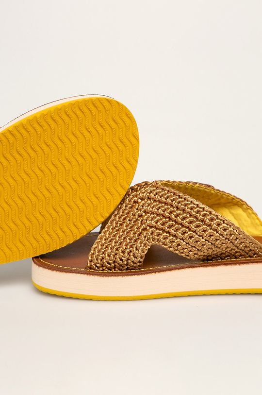 Gant - Klapki Flatville żółty