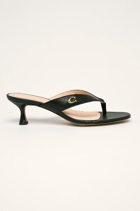 negru Coach - Slapi de piele De femei