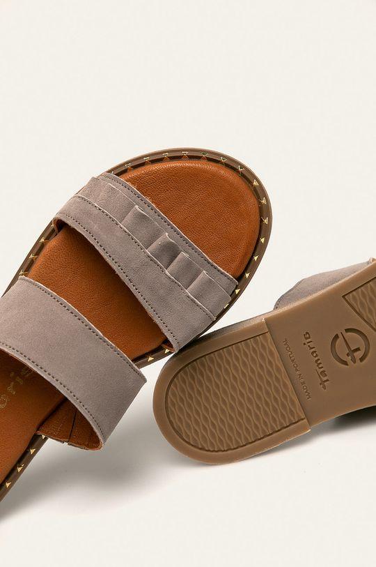 světle šedá Tamaris - Kožené pantofle