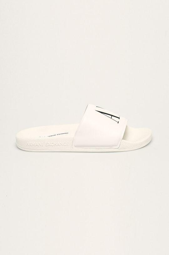 bílá Armani Exchange - Pantofle Dámský