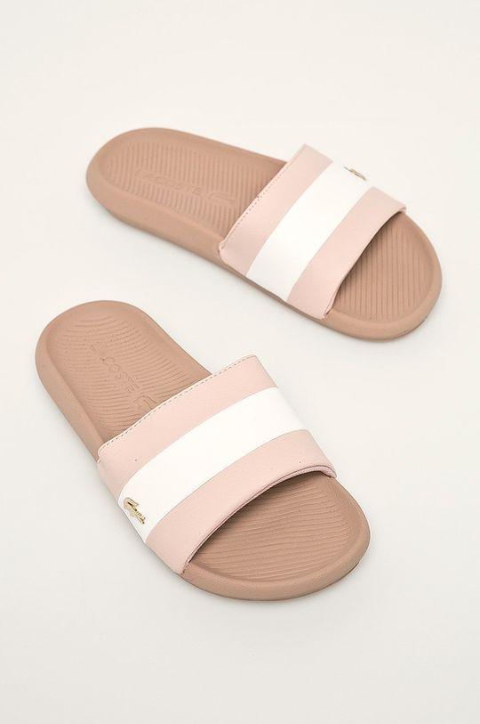Lacoste - Papuci Croco Slide roz