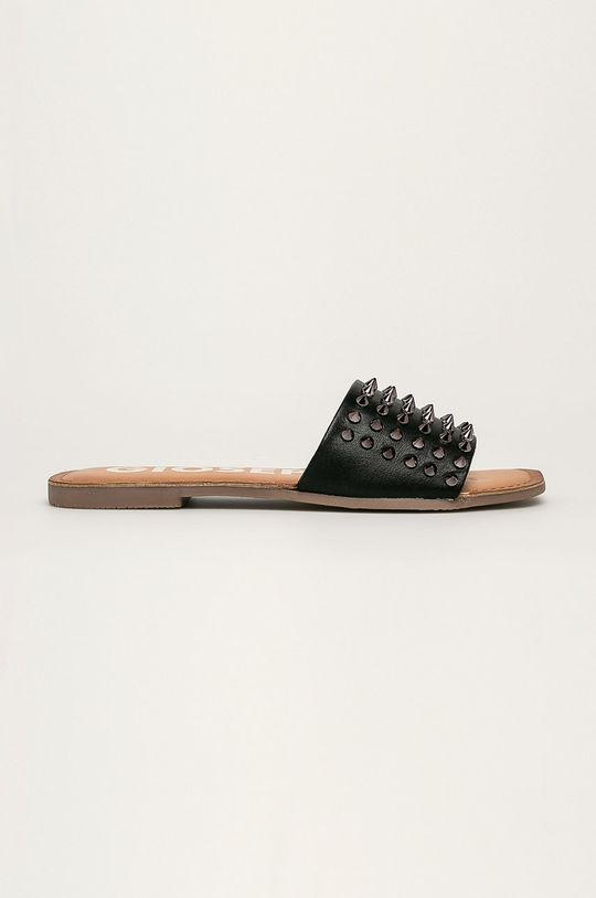 čierna Gioseppo - Kožené šľapky Dámsky