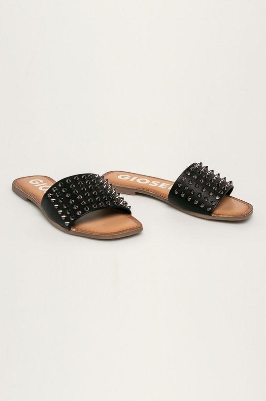 Gioseppo - Kožené šľapky čierna