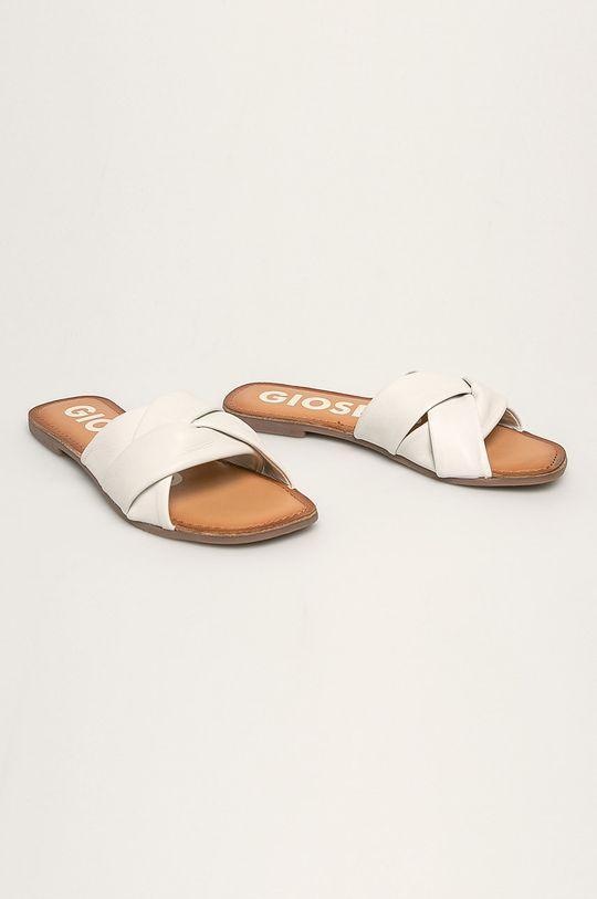 Gioseppo - Kožené šľapky biela