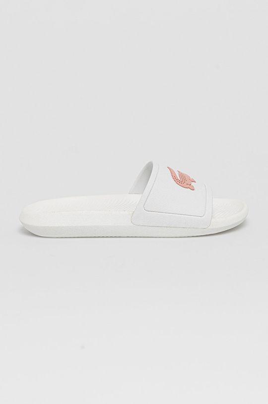 biały Lacoste - Klapki Damski