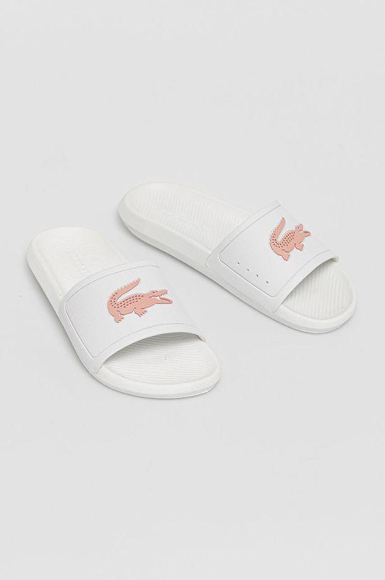 Lacoste - Klapki biały