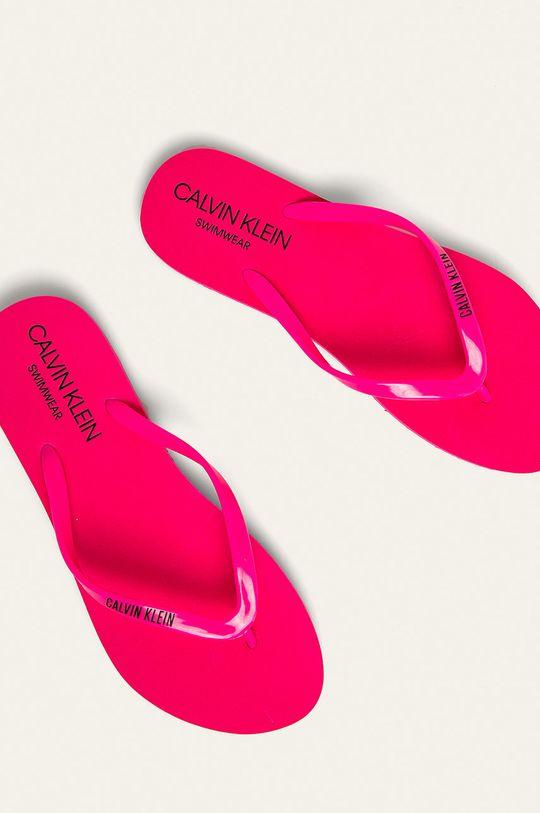 Calvin Klein Underwear - žabky ostrá růžová