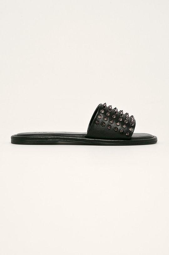 černá Aldo - Kožené pantofle Falcifera Dámský