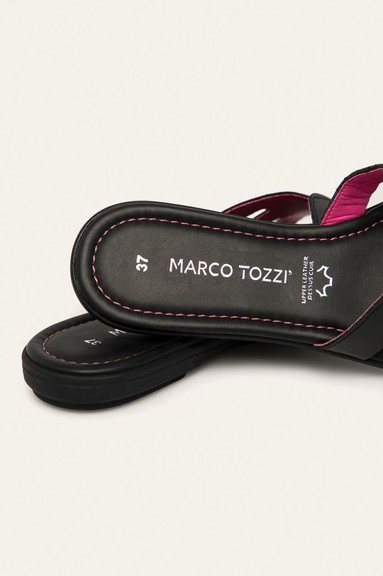 negru Marco Tozzi - Slapi de piele