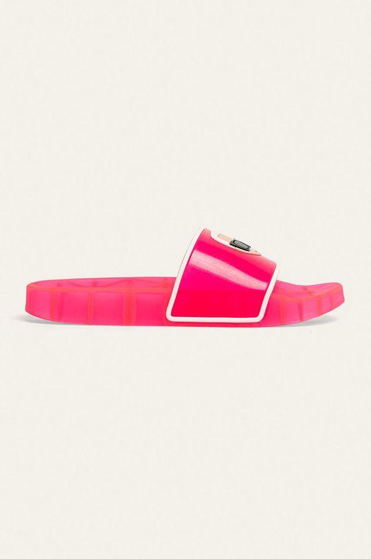 ostry różowy Karl Lagerfeld - Klapki Damski