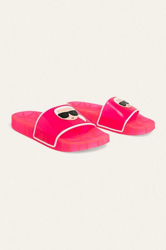 Karl Lagerfeld - Klapki ostry różowy