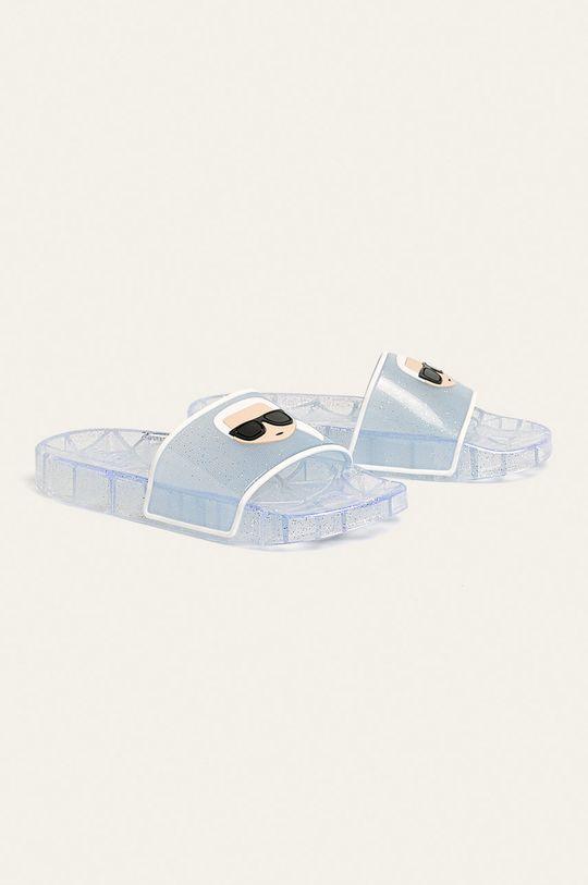Karl Lagerfeld - Pantofle stříbrná