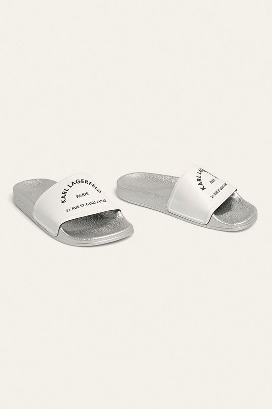 Karl Lagerfeld - Pantofle bílá