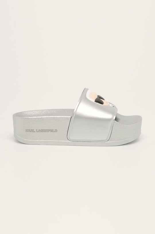 argintiu Karl Lagerfeld - Papuci De femei