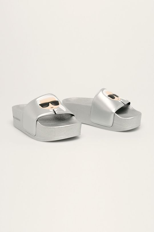 Karl Lagerfeld - Papuci argintiu