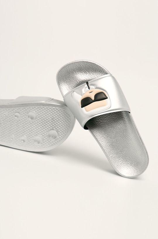 argintiu Karl Lagerfeld - Papuci