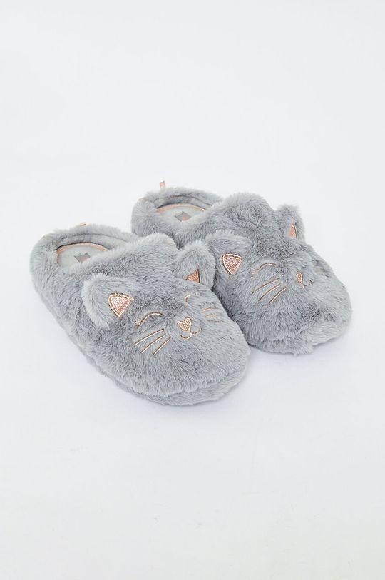 Etam - Papuče Mousse sivá