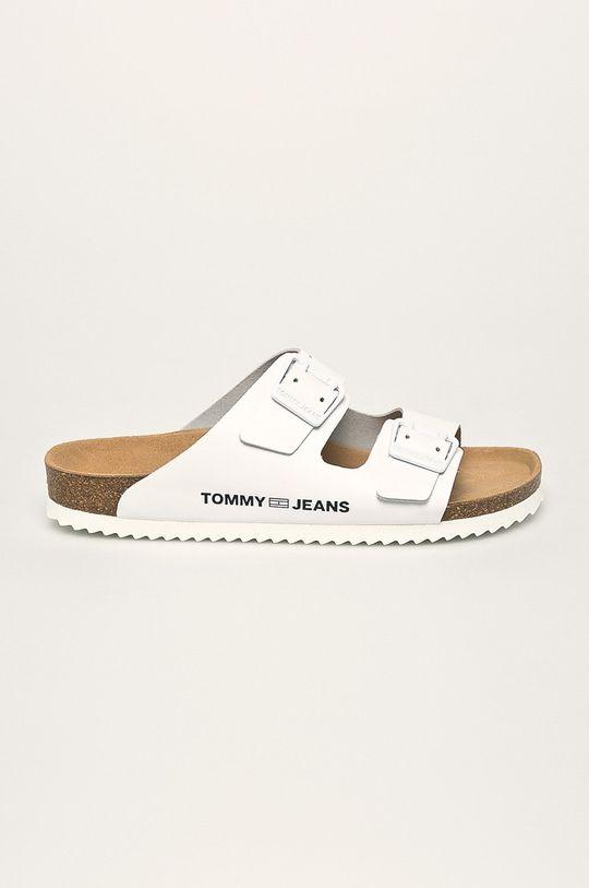 biela Tommy Jeans - Kožené šľapky Dámsky