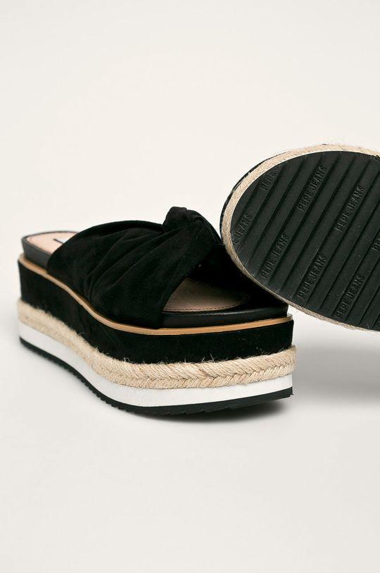Pepe Jeans - Klapki Wick Bass Cholewka: Materiał tekstylny, Wnętrze: Materiał syntetyczny, Materiał tekstylny, Podeszwa: Materiał syntetyczny