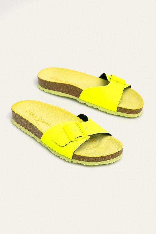 Pepe Jeans - Papuci Oban Surf galben deschis