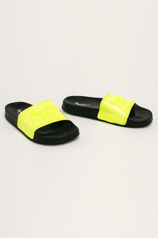 Pepe Jeans - Pantofle jasně žlutá