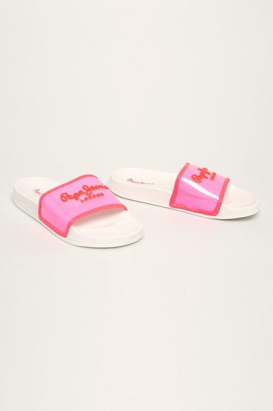 Pepe Jeans - Papuci roz ascutit