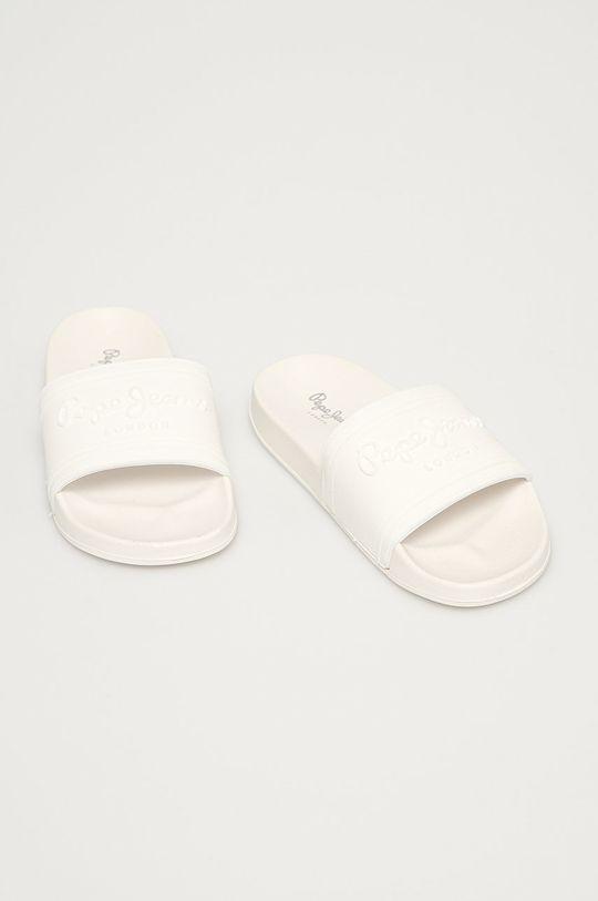 Pepe Jeans - Pantofle Slider Unisex bílá