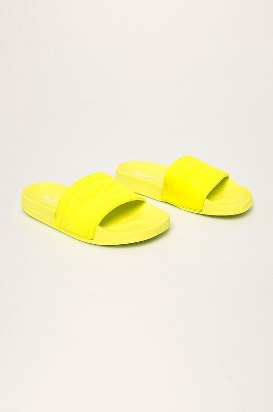Pepe Jeans - Šľapky Slider Unisex svetložltá