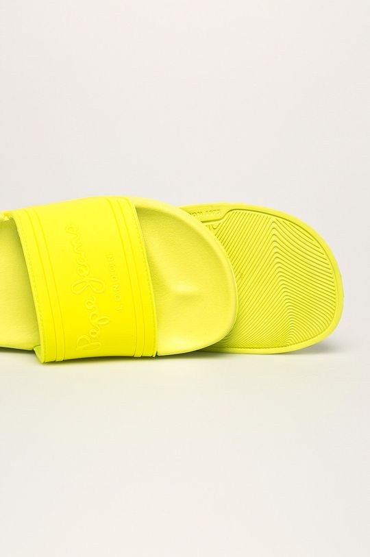 svetložltá Pepe Jeans - Šľapky Slider Unisex
