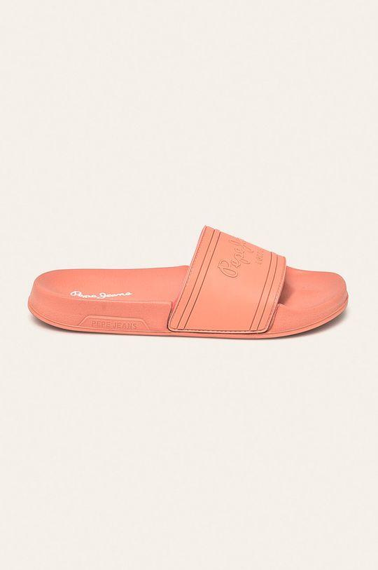 koralová Pepe Jeans - Šľapky Slider Unisex Dámsky