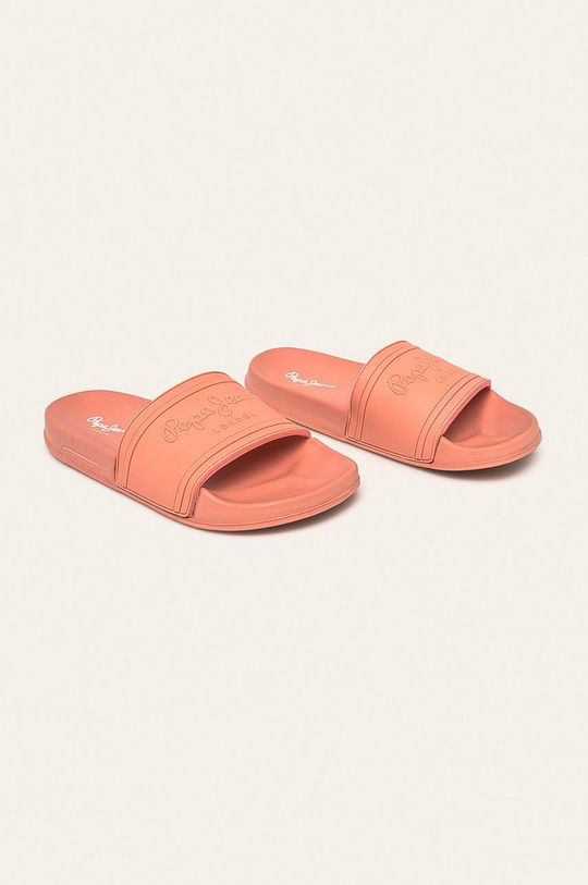 Pepe Jeans - Pantofle Slider Unisex korálová