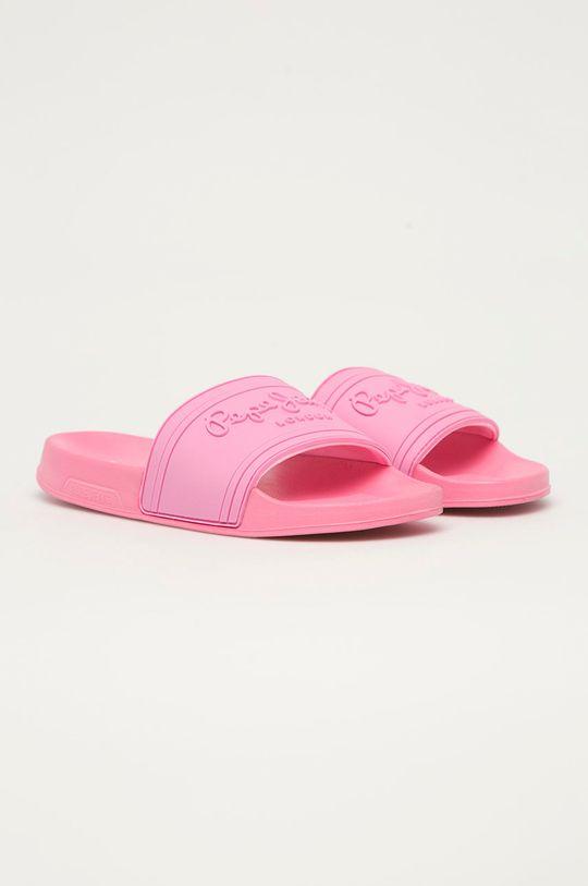 Pepe Jeans - Šľapky Slider Unisex sýto ružová
