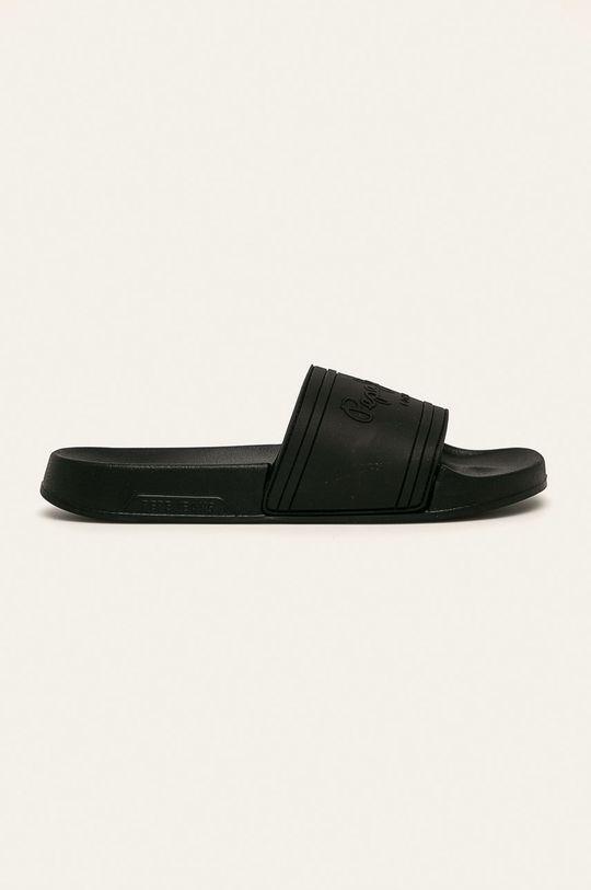 čierna Pepe Jeans - Šľapky Slider Unisex Dámsky