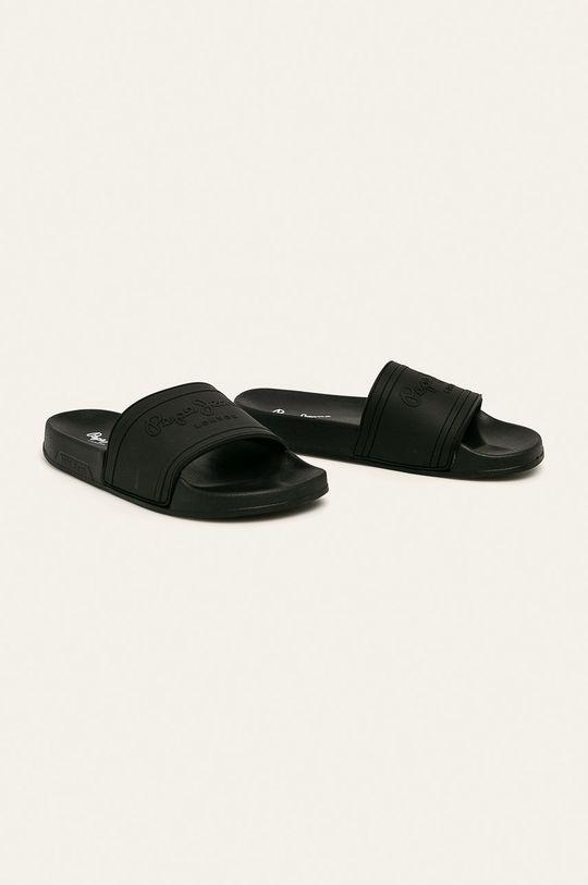 Pepe Jeans - Šľapky Slider Unisex čierna